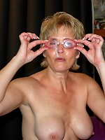 Tracy Tries Out The Cum Goggles! - RealTampaSwingers.com