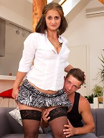 Horny housewife doing her younger lover